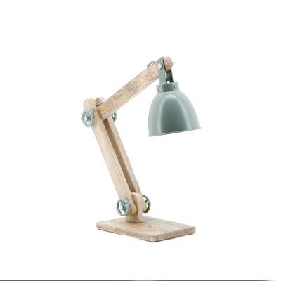 Lamp Davinci €59,- verkrijgbaar in grijs en mint groen