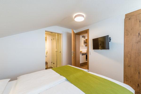 Apartment Schnee Schlafzimmer