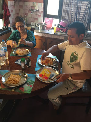 Für Yogi's Familie habe ich Spaghetti gekocht :-)