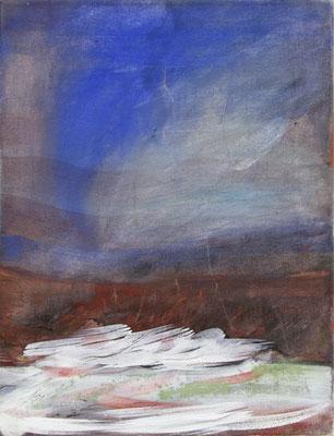SOPHIE FENSCH  50 X 40 CM, EITEMPERA, PIGMENTE UND BUNTSTIFT AUF LEINWAND, 2016