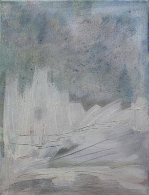 SOPHIE FENSCH  40 X 30 CM, EITEMPERA, PIGMENTE UND BUNTSTIFT AUF LEINWAND, 2016
