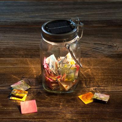 Sonnenglas - Nostalgisches Weckglas mit Lichtakzenten im Online-Shop erhältlich!
