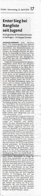 Bericht Ranglisten-Turnier Gerlingen 2016