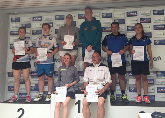 Siegerehrung Mixed 2. Platz Sarit Kick und Matthias Kroll