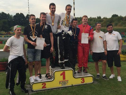 Siegerehrung Teamwertung 3. Platz GSV Freiburg/GSV Bremen