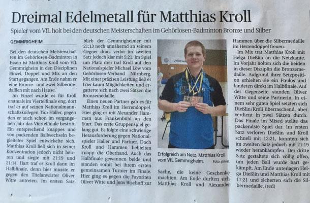 Bericht Gehörlosen-DM in Essen 2016