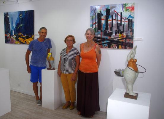 Robert Cadiére, Roselyne Conil et Marie Poscia