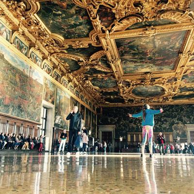 Saal des Großen Rates im Dogenpalast, San Marco, Venedig
