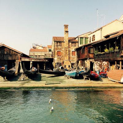 Die Gondelwerft gegenüber vom Alsquero, Fondamenta Nani, Venedig