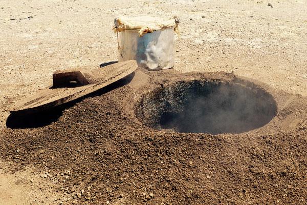 Cozido: in den Caldeiras am Lagoa das Furnas wird mit vulkanischer Hitze gekocht