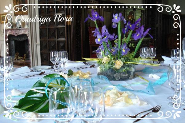 Fasnacht Tisch Dekoration Meggen Luzern Blumen Flower Gesteck Strauss Bouquet