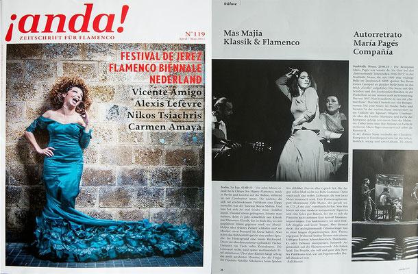 "Resonanz von ANDA auf Classic & Flamenco ""Mas Majia"" März 2015 im LaLuz Berlin"