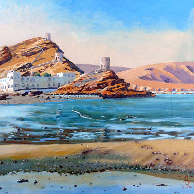 Sandstone Colours, Sur, Oman - Acrylic.  Best of Hampshire exhibition