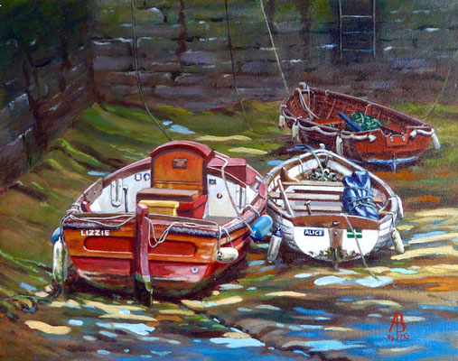 On The Mud - Acrylic, 8 x 10 inches (20 x 25 cm).  Army Arts Society exhibition.