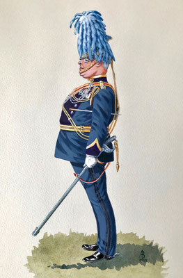 Caricature: Director of Music, Inns of Court and City Yeomanry - official presentation
