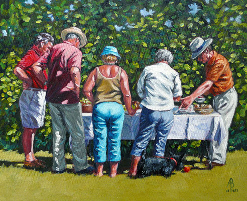 Summer lunch - Sold at AFAS exhibition, Mall Galleries, London 2014