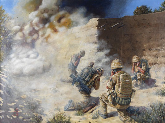 The Breach, Sangin, Afghanistan.  Commissioned by 26 Engineer Regiment.
