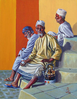 The Tea-Seller's Corner, Oman.  Private client