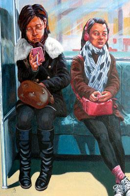Communication breakdown - Acrylic on canvas board, 30 x 20 inches (76 x 50 cm)