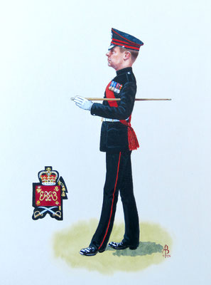 WO2, Honourable Artillery Company - acrylic.  Private client.