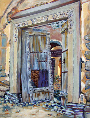 Old doorway -  Acrylic on canvas board, 16 x 12 inches