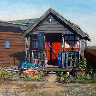 Gone Fishing! Sold at Best of Hampshire Exhibition.  Test Valley Art Prize
