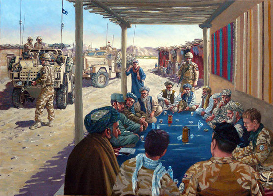 Afghanistan.  Commissioned by 1st The Queen's Dragoon Guards