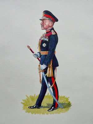 Caricature - Field Marshal Earl Alexander of Tunis.  Private commission