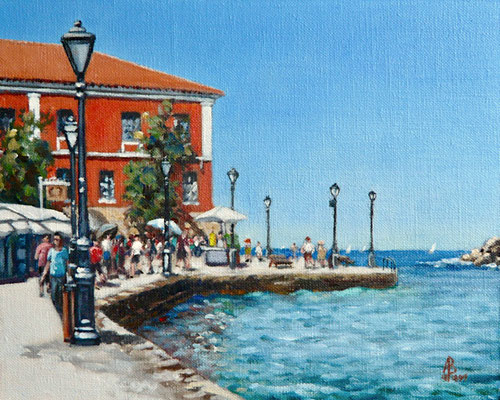 Chania, Crete - Oil on canvas board, 8 x 10 inches (20 x 25 cm).  £425 with frame.  Available through The Archive Gallery, Wiltshire