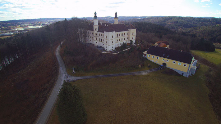 Schloss Freiberg, Steiermark, Luftaufnahme
