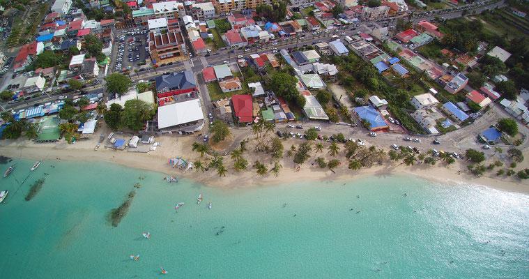 Guadeloupe Luftaufnahme