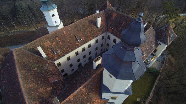 Schloss Freiberg, Luftaufnahme