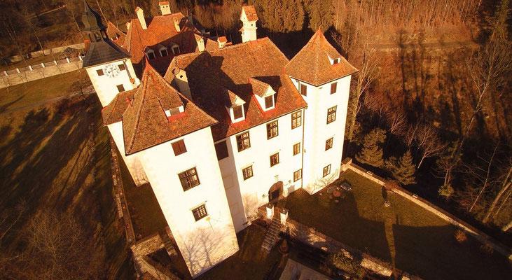 Schloss, Steiermark, Luftaufnahme