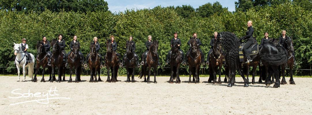 Soviele Pferde auf ein Foto gut abzubilden, stellt wahrlich eine Herausforderung dar.