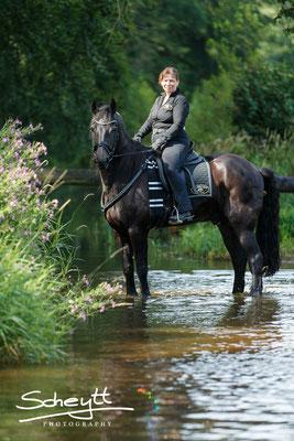 Nun heißt es : Entspannung für Pferd und Reiter. Da es so warm war,