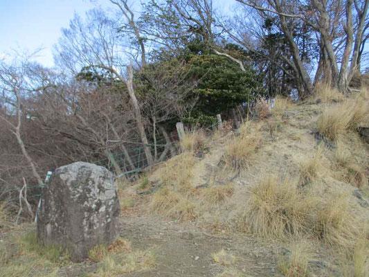 その発句石 ここには「西山を守る会」が投句箱を設置しているので、苦し紛れに一句ひねってから下山しました