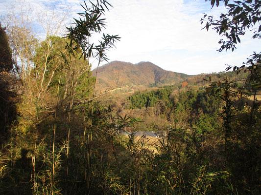 峰山を巻いて行く植林帯の道は少々荒れていたが、向こうに石砂山(いしざれやま)が見えてきた