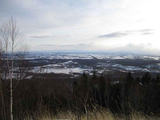 帰路に見た十勝平野 広々としていてまさに北海道の大地