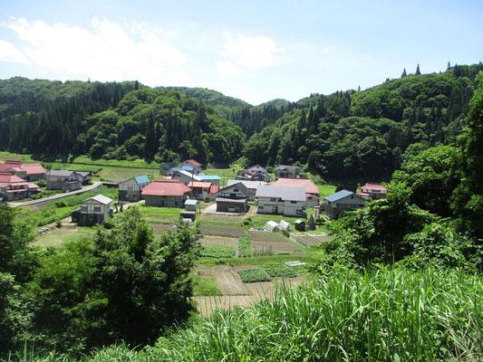 和子さんのお気に入りの場所 ちょっと高台にあるお寺から部落を見下ろせる 部落内にある神社ではむかし村歌舞伎が行われていたそう