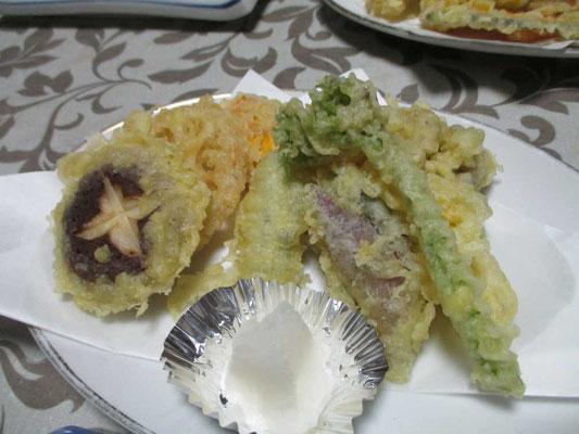 山菜・山のものづくしの天ぷら
