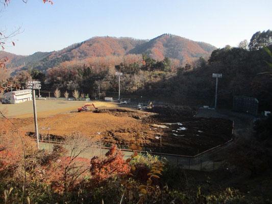 帰路にいつも通る名倉グラウンドが工事中 この間の台風被害があったのでしょうか