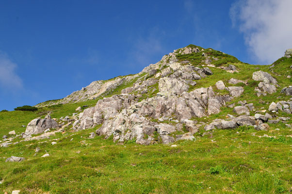 いわゆる北アルプスの「ヘソ」 調べるとジュラ紀(約2〜1.7億年前)の花崗閃緑岩とのこと