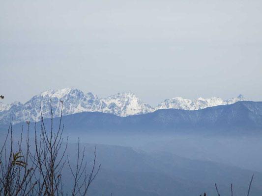 穂高連峰と槍ヶ岳