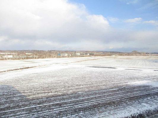 空も青さが見えてきました 厳冬期の景色とは一変しています 春がもう目の前まできています