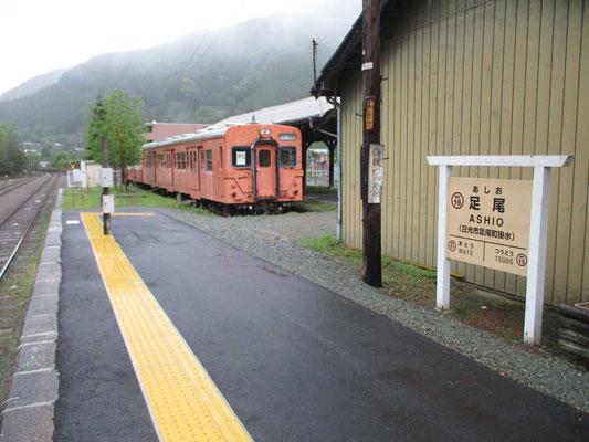 動かない鉄道の為に車で上流の各駅を訪ねての見学をしました
