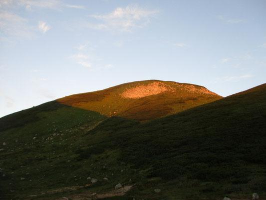 モルゲンロートの双六岳