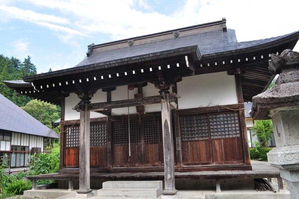 下山後に再び一ノ木集落の「飯豊山神社」にお礼参り