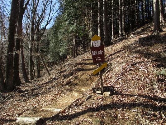 ある程度の時間登って平井峠も過ぎてヤレヤレと言った所でこの案山子 これから登りが「あと40分」とありかなりガックリきました