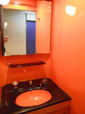 「くまげら」号車内は洗面所までオレンジ色!