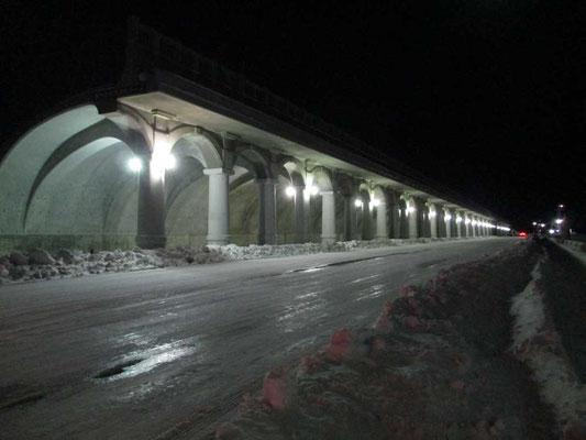 北防波堤ドームの夜のライティング